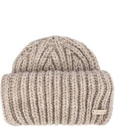 Однотонная вязаная шапка Noryalli