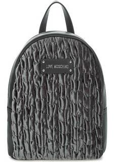 Текстильный рюкзак с тонкими лямками Love Moschino
