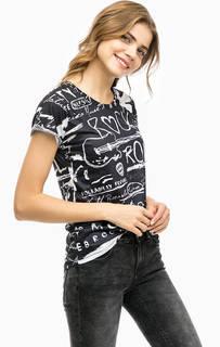 Двухцветная футболка с короткими рукавами Alcott