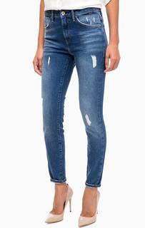 Рваные джинсы скинни с высокой посадкой Mavi