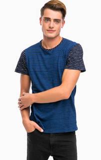 Хлопковая футболка в полоску Pepe Jeans