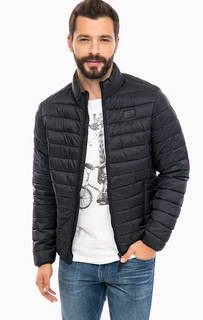 Демисезонная стеганая куртка черного цвета Blend