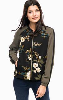 Легкая куртка бомбер с цветочным принтом B.Young