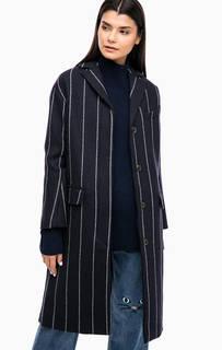 Синее демисезонное пальто в полоску Paul & Joe Sister