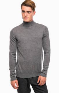 Серый джемпер из шерсти Lagerfeld