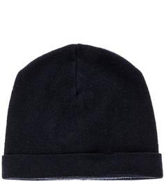 Синяя шапка с содержанием шерсти и кашемира Lagerfeld
