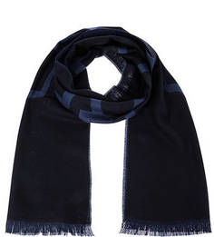 Синий шарф из шерсти Lagerfeld