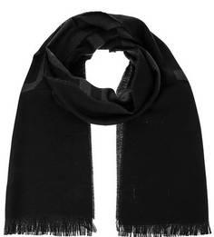 Черный шарф из шерсти Lagerfeld