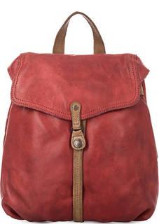 Красный кожаный рюкзак с откидным клапаном Aunts & Uncles