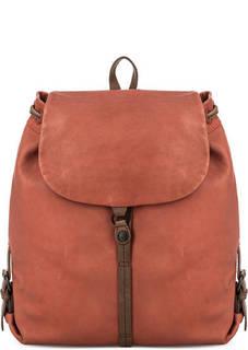Оранжевый рюкзак из натуральной кожи Aunts & Uncles