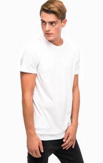 Белая хлопковая футболка с принтом на спине Jack & Jones