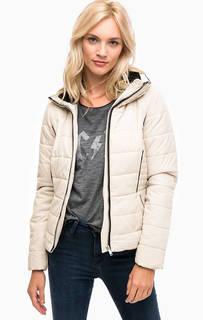 Бежевая демисезонная куртка на молнии Vero Moda