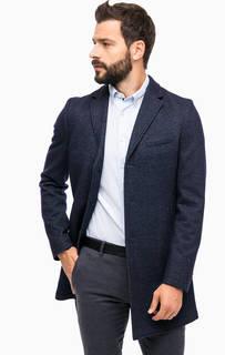 Классическое синее пальто на пуговицах Marc Opolo