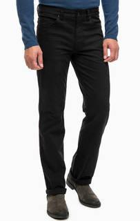 Черные хлопковые брюки прямого кроя Mustang