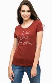 Хлопковая футболка с принтом Mustang