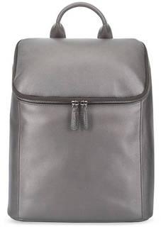 Серебристый кожаный рюкзак на молнии Picard