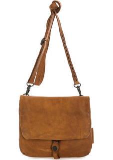 Коричневая кожаная сумка через плечо Aunts & Uncles