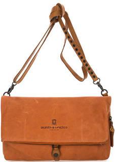 Оранжевая кожаная сумка на молнии Aunts & Uncles