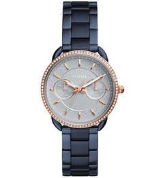 Часы круглой формы с металлическим браслетом Fossil