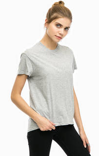 Серая футболка с вырезом на спине Cheap Monday