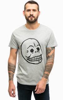 Серая футболка с принтом Cheap Monday
