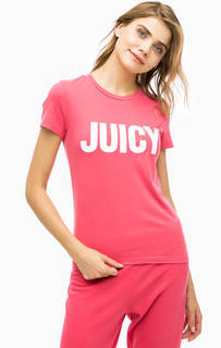Хлопковая футболка с принтом Juicy by Juicy Couture