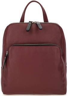 Бордовый кожаный рюкзак на молнии Gianni Conti
