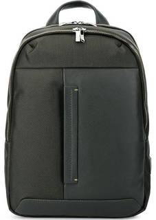 Вместительный текстильный рюкзак с кожаной вставкой Gianni Conti