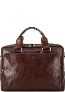 Кожаная сумка с отделением для ноутбука Gianni Conti