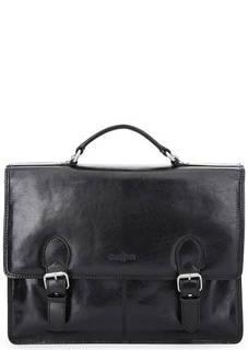 Кожаный портфель со съемным плечевым ремнем Gianni Conti