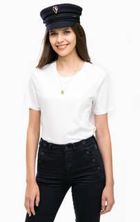 Белая хлопковая футболка с короткими рукавами Scotch&Soda