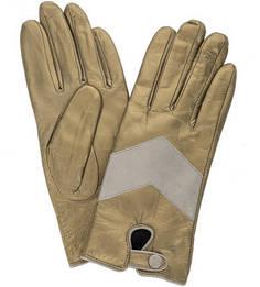 Кожаные перчатки золотистого цвета Scotch&Soda