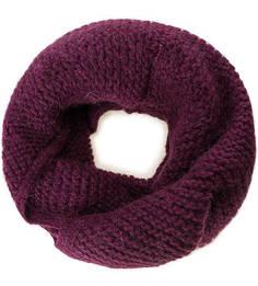 Фиолетовый вязаный шарф-хомут Noryalli