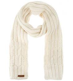 Вязаный шарф молочного цвета Noryalli
