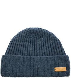 Синяя шапка из шерсти с отворотом Noryalli