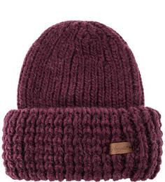 Фиолетовая шапка крупной вязки Noryalli