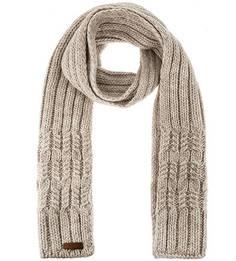 Бежевый вязаный шарф Noryalli