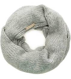 Серебристый вязаный шарф-хомут Noryalli
