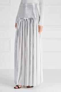 Серебристая юбка «Плиссе» Esve