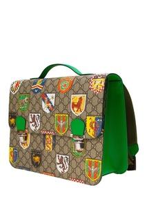 Портфель с гербами Gucci Children