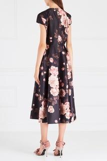 Платье с принтом Rochas