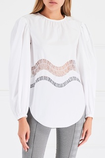 Хлопковая блузка Nina Ricci