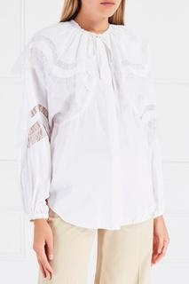 Блузка с кружевом Nina Ricci