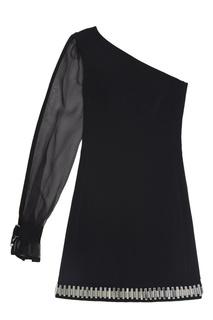 Однотонное платье David Koma