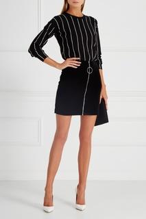 Бархатная юбка Mugler
