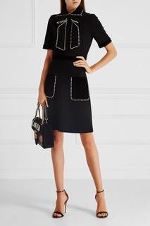 Платье с декором Gucci