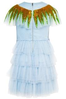 Платье из сетки Gucci Children