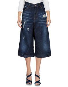 Джинсовые брюки-капри LE Streghe