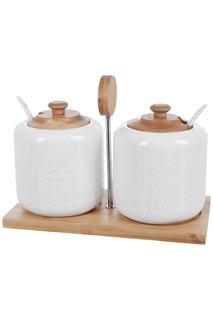 Сахарницы, 2 шт. с ложками Best Home Porcelain