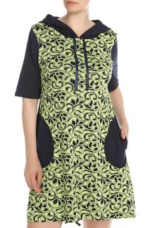 Платье комбинированное с капюшоном ELISEEVA OLESYA